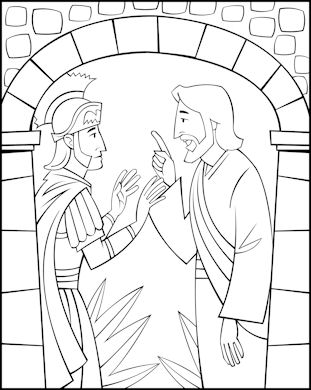 Free Sunday School Coloring Pages Jesus And The Centurion