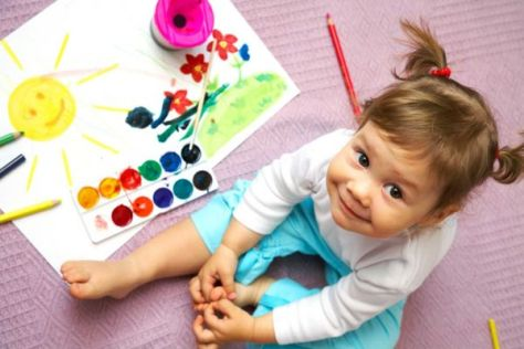 Learning colors for kids is exciting process to train their mind