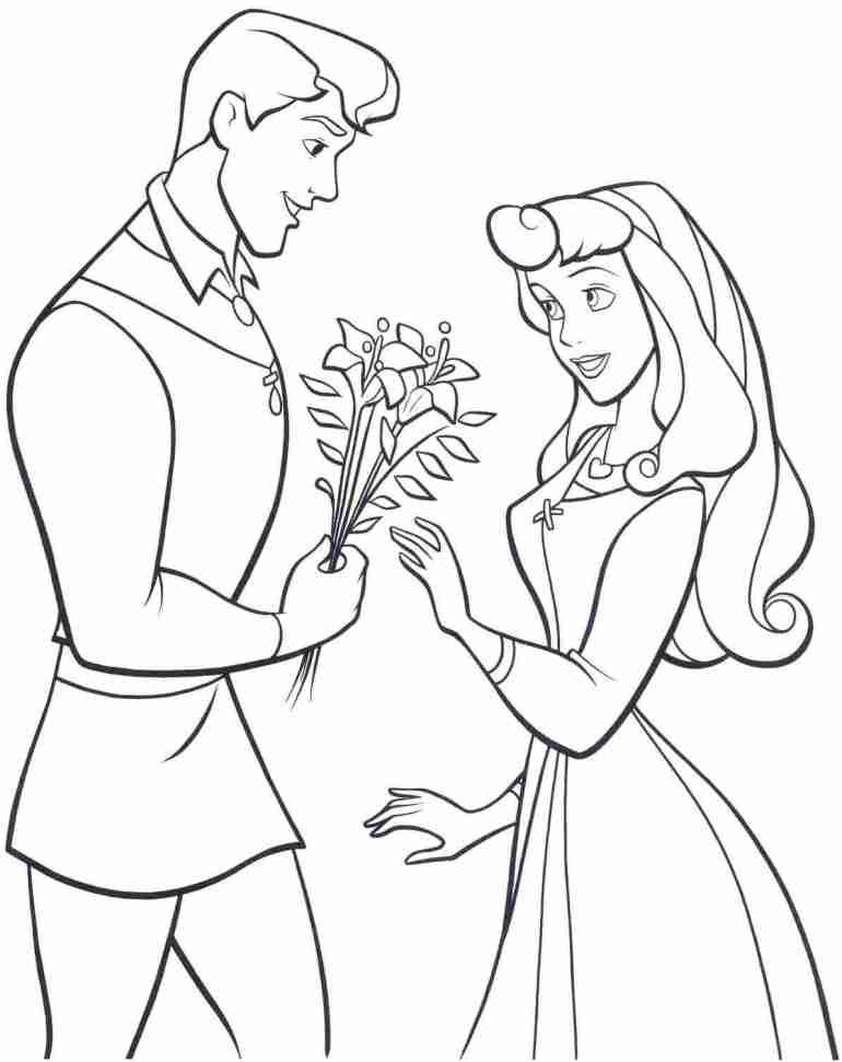 Disney Princess Aurora - Download Printable Coloring Image | coloring pages to print disney princess