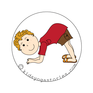 dolphin Pose kids yoga stories