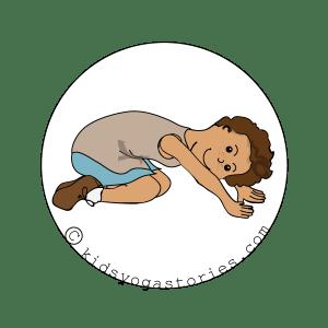 Extended Child's Pose Kids Yoga