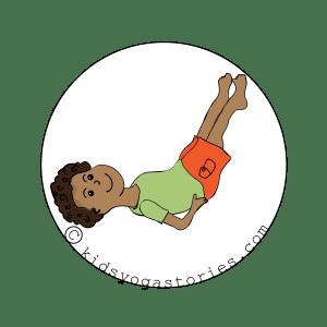 Half Shoulder Stand for kids | Kids Yoga Stories