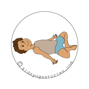 Reclining Butterfly on Kids Yoga Stories