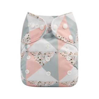 Reusable Cloth Pocket Nappy Pastel Pink