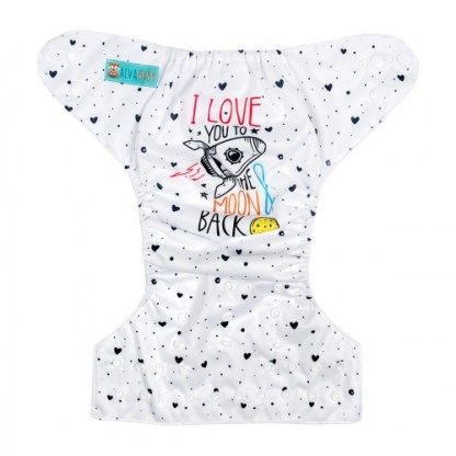 Reusable Cloth Pocket Nappy Love You to the Moon and Back