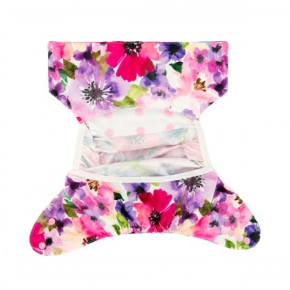 Reusable Cloth Nappy Cover Wrap PUL Flowers