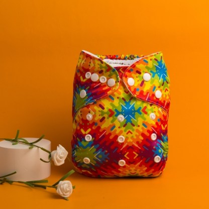 Reusable Cloth Pocket Nappy Kaleidoscope