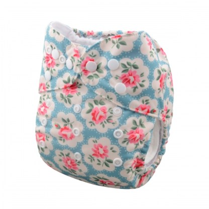 Reusable Cloth Pocket Nappy Roses