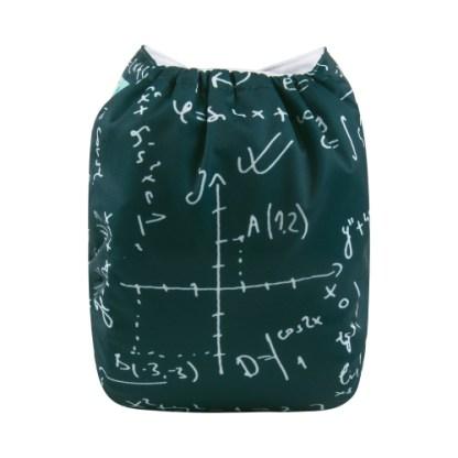 Alvababy Reusable Cloth Pocket Nappy Math Geek
