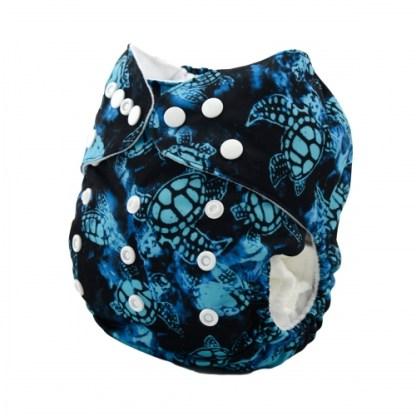 Reusable Cloth Pocket Nappy Turtle