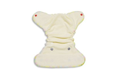 Fitted Bamboo Nappy for a newborn