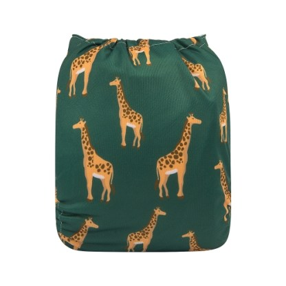 Alvababy Reusable Cloth Pocket Nappy Giraffe