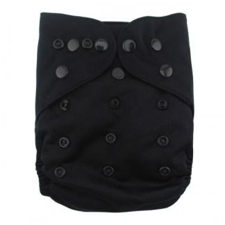 Alvababy Reusable Cloth Wrap Nappy Black