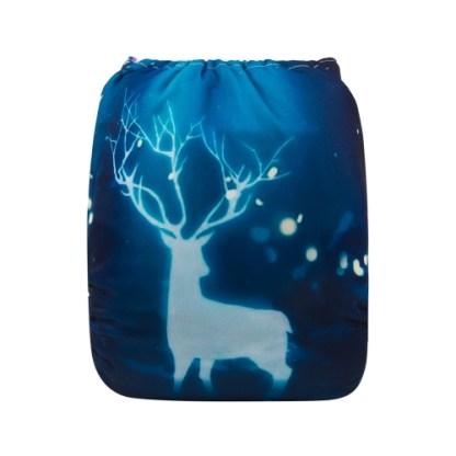 Reusable Cloth Pocket Nappy Winter Deer Christmas