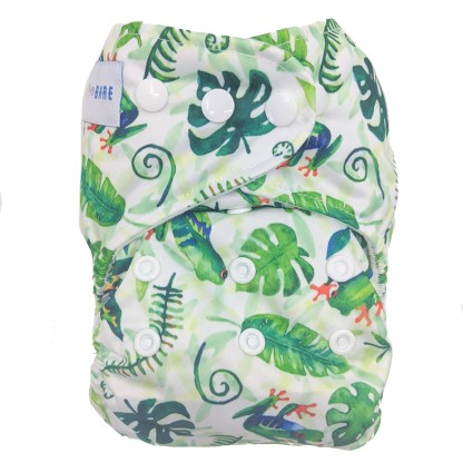Baby Bare Cloth Reusable Washable Nappy Finley's Frogs
