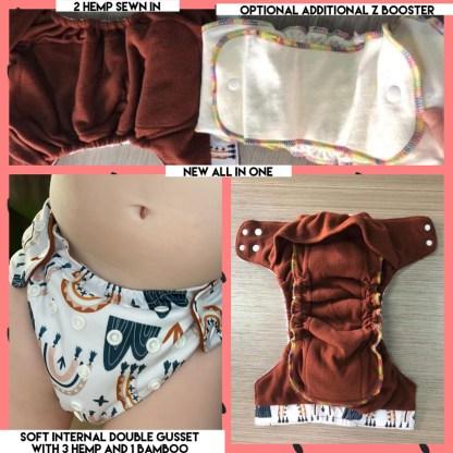 Reusable Cloth Nappy Bells Bumz