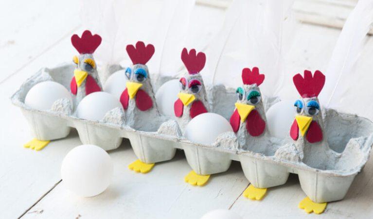 poules boite d'oeufs
