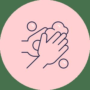 Laver les mains très régulièrement picto Kidways gestes barrières