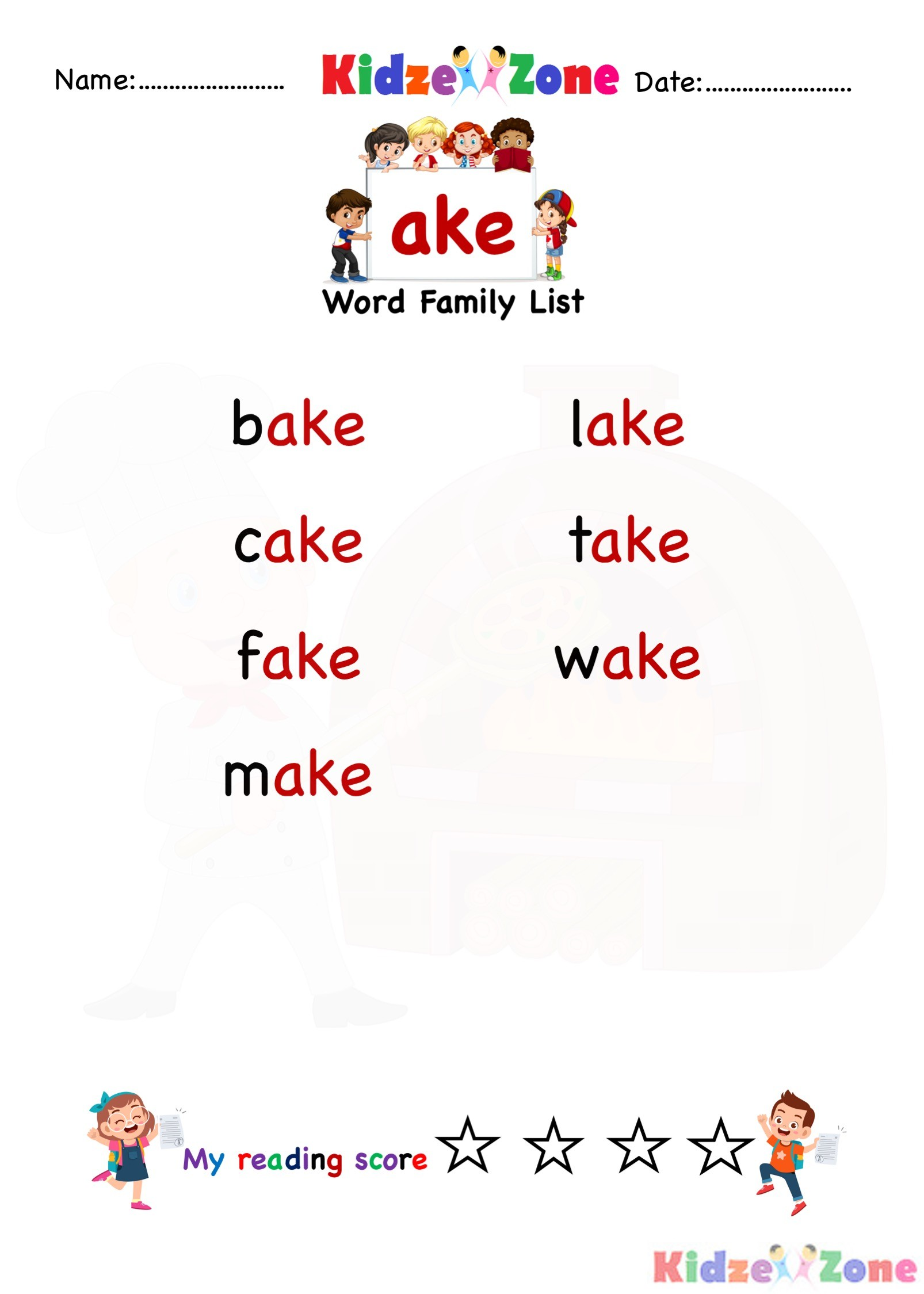 Explore And Learn Words From Ake Word Family