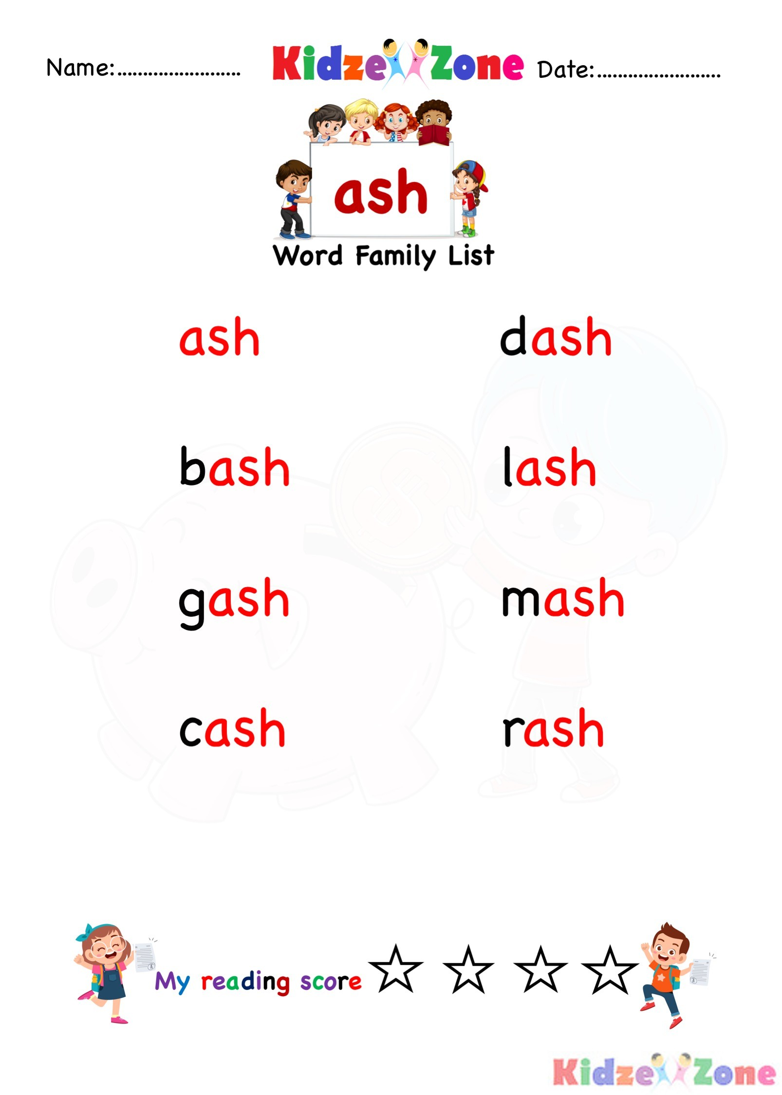 Explore And Learn Words From Ash Word