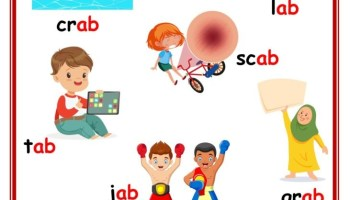 ab word family picture card worksheet