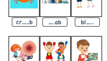 Ab Word Family Phonics Kindergarten Worksheet Kidzezone