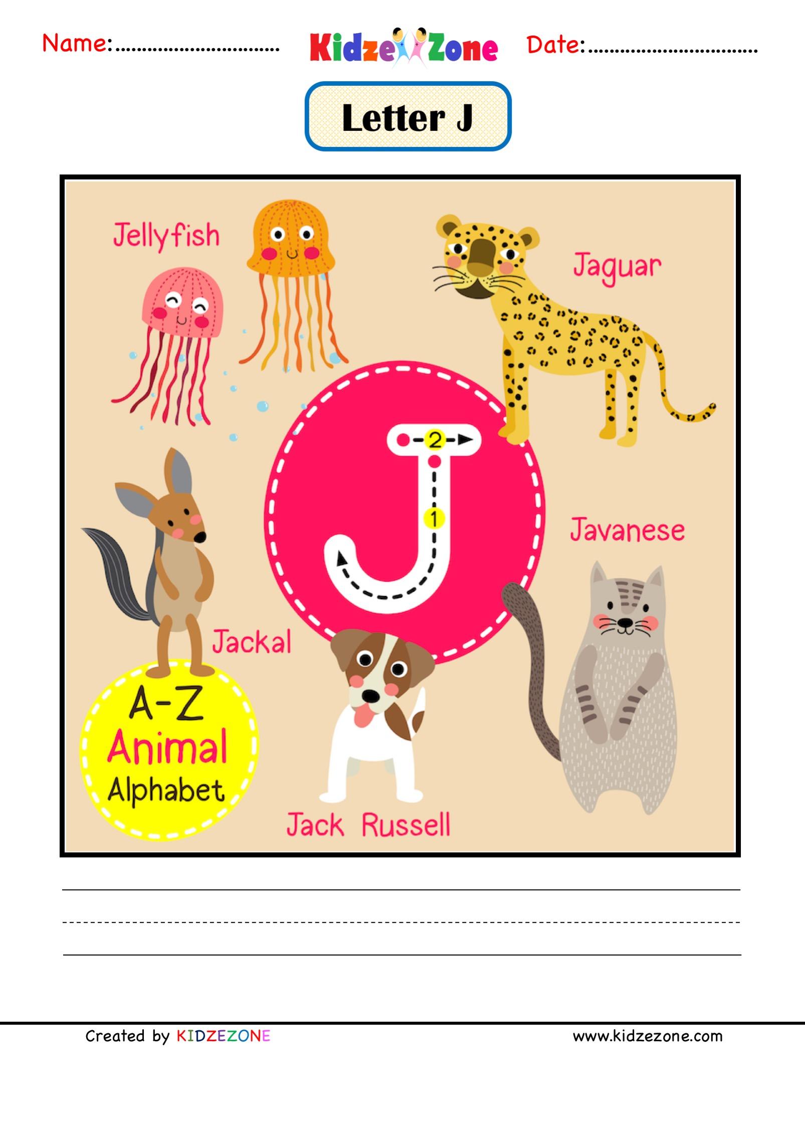 Kindergarten Letter J Worksheets