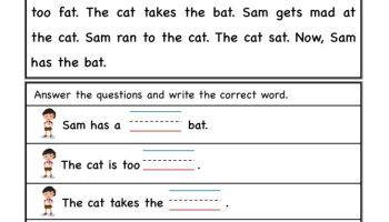 Kindergarten at word-family Reading comprehension