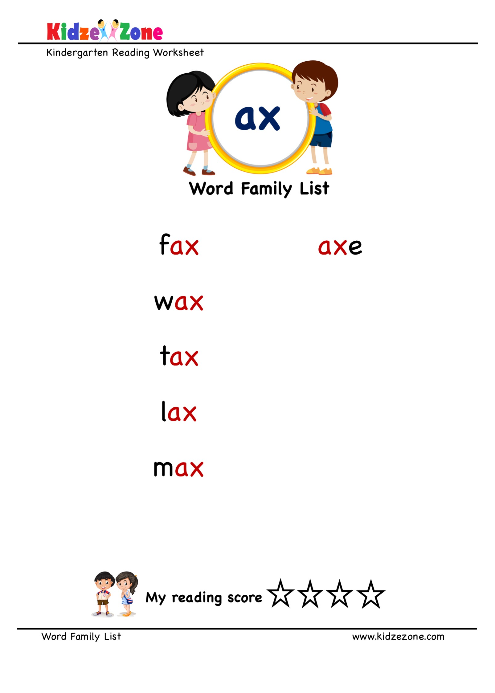 Explore And Learn Words From Ax Word Family With Word
