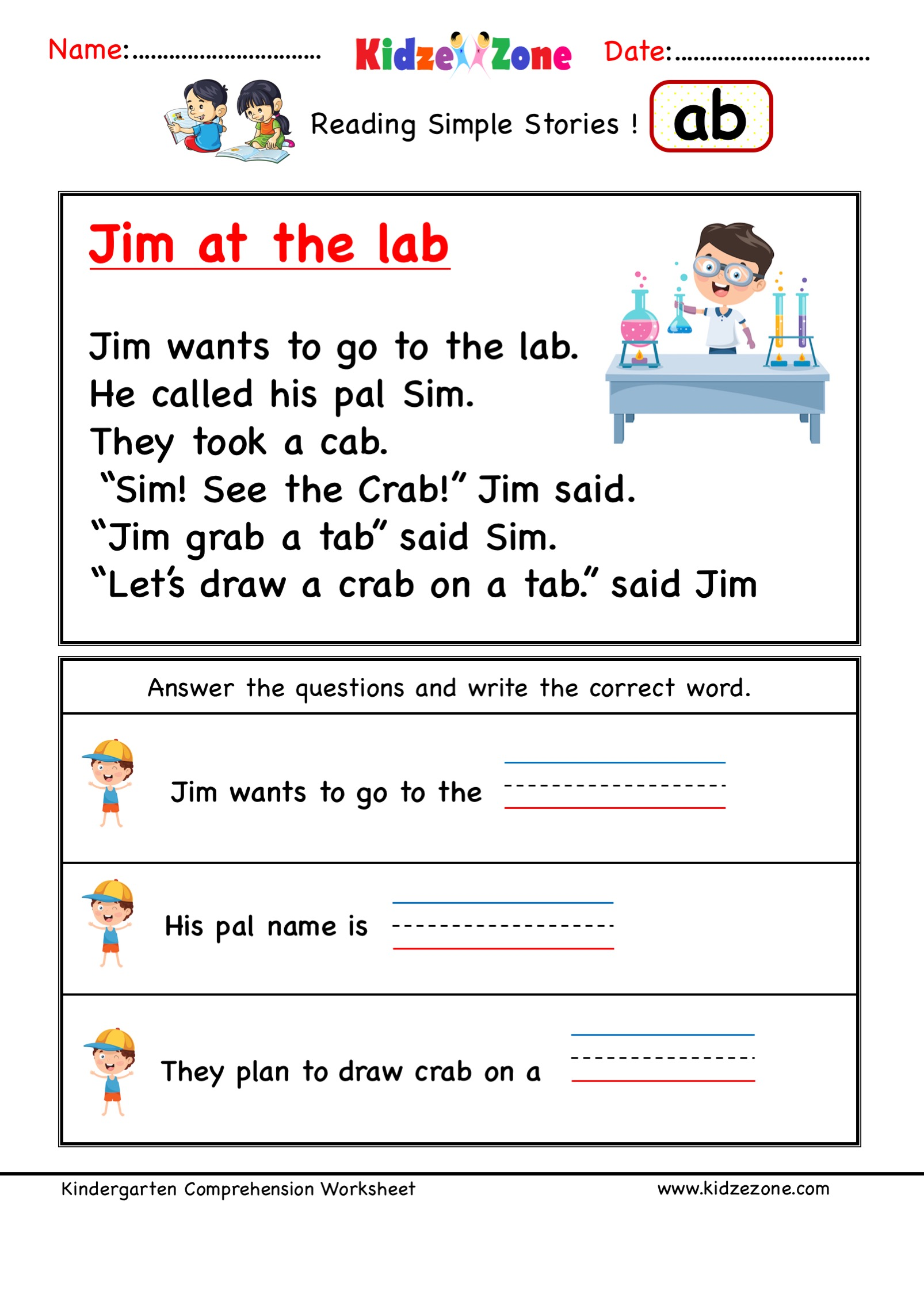 Kindergarten Worksheets
