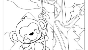 Climbing Monkey coloring page