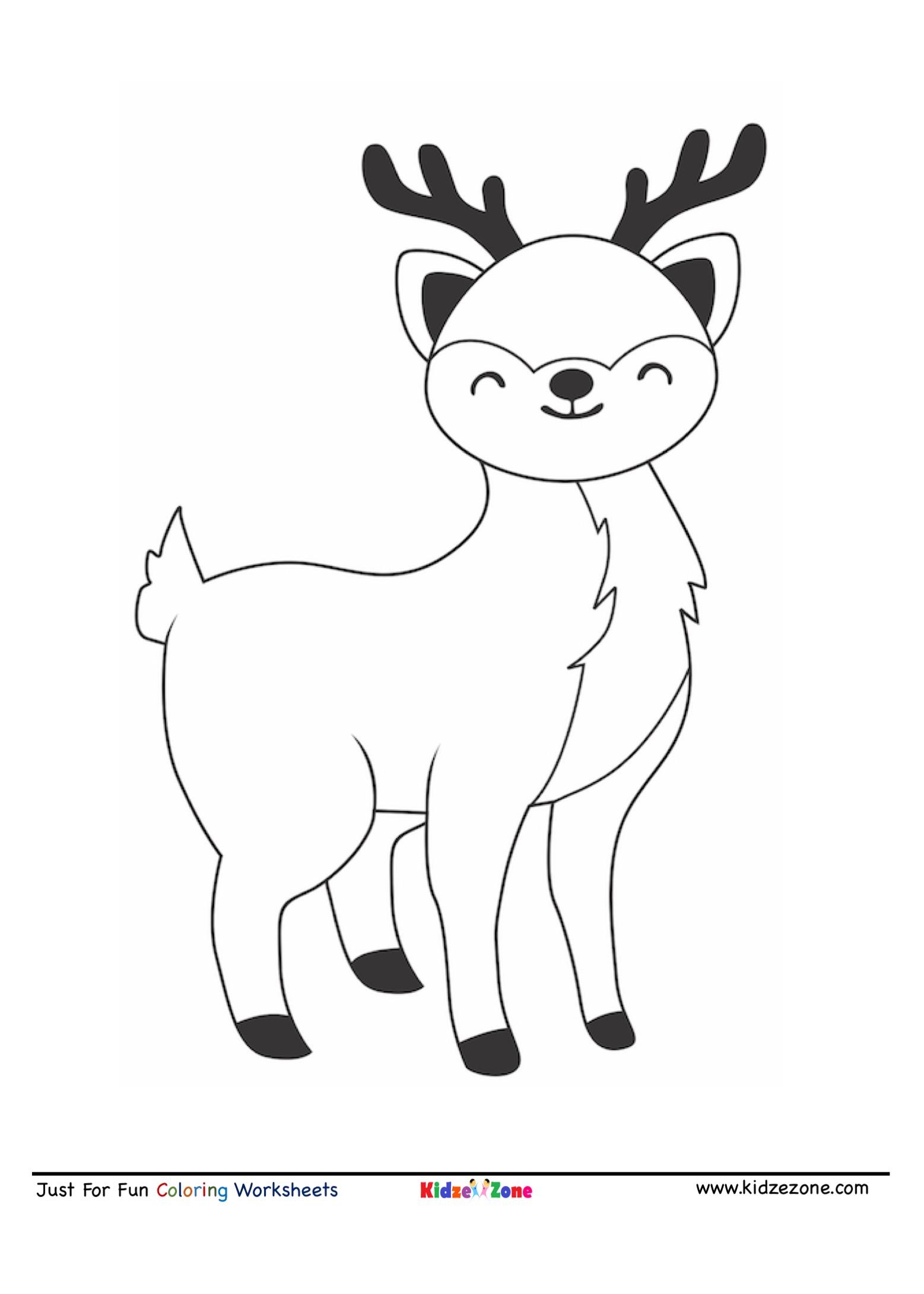 Reindeer Coloring Sheet