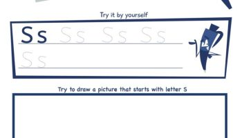 Letter S Super Smart Tracing, Writing, Drawing and Activity Worksheet