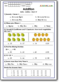 Grade 1 Addition Worksheets