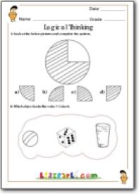 Grade 1 Logical Thinking Worksheets Maths Exercise
