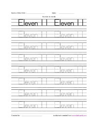 Maths Number Name Writing Worksheet Downloadable Activity