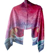 Silk Jewish Creation Purple Prayer Shawl
