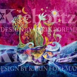 100% Silk Jewish Prayer Shawl Creation Purple