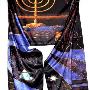 Jewish Tribe Levi Purple Prayer Shawl