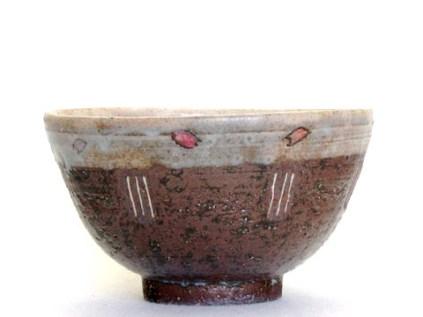 桜象嵌飯茶碗