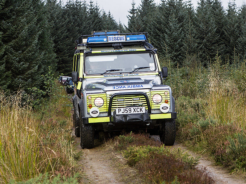 Northumberland National Park Mountain Rescue Team Land Rover