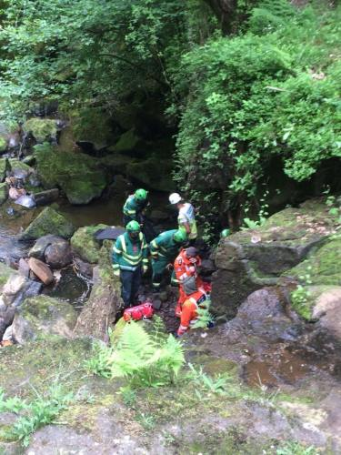 The scene of the incident below Hareshaw Linn