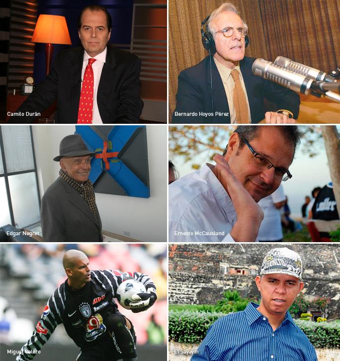 Camilo Durán, Bernardo Hoyos, Edgar Negret, Ernesto McCausland, Miguel Calero, El Sayayín