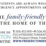 Fredericton Dental Ad 8x2 PRINT
