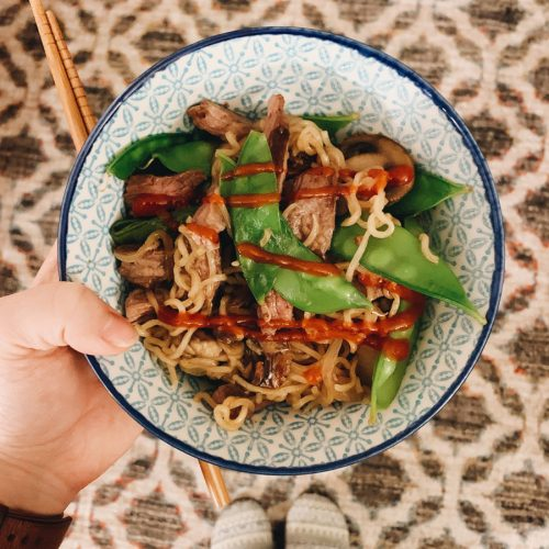 Steak Noodle Stir Fry