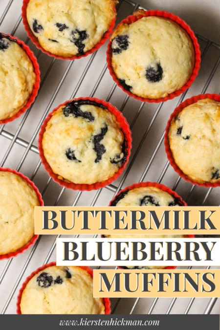Buttermilk blueberry muffins pin for pinterest