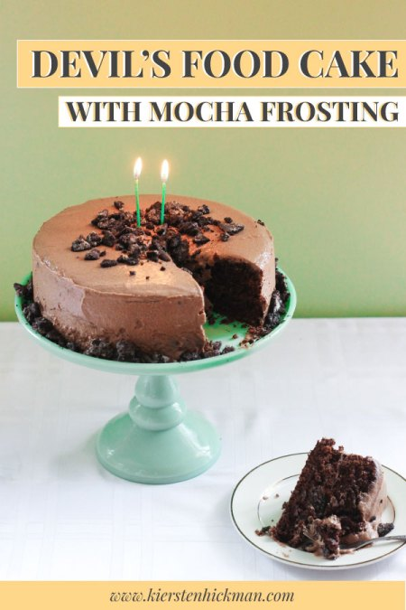 Devil's Food Cake recipe pin for pinterest