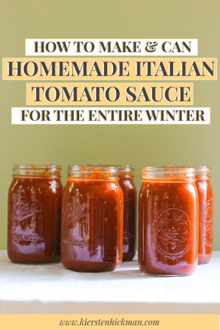 How to make and can Italian tomato sauce for the winter, pin for Pinterest