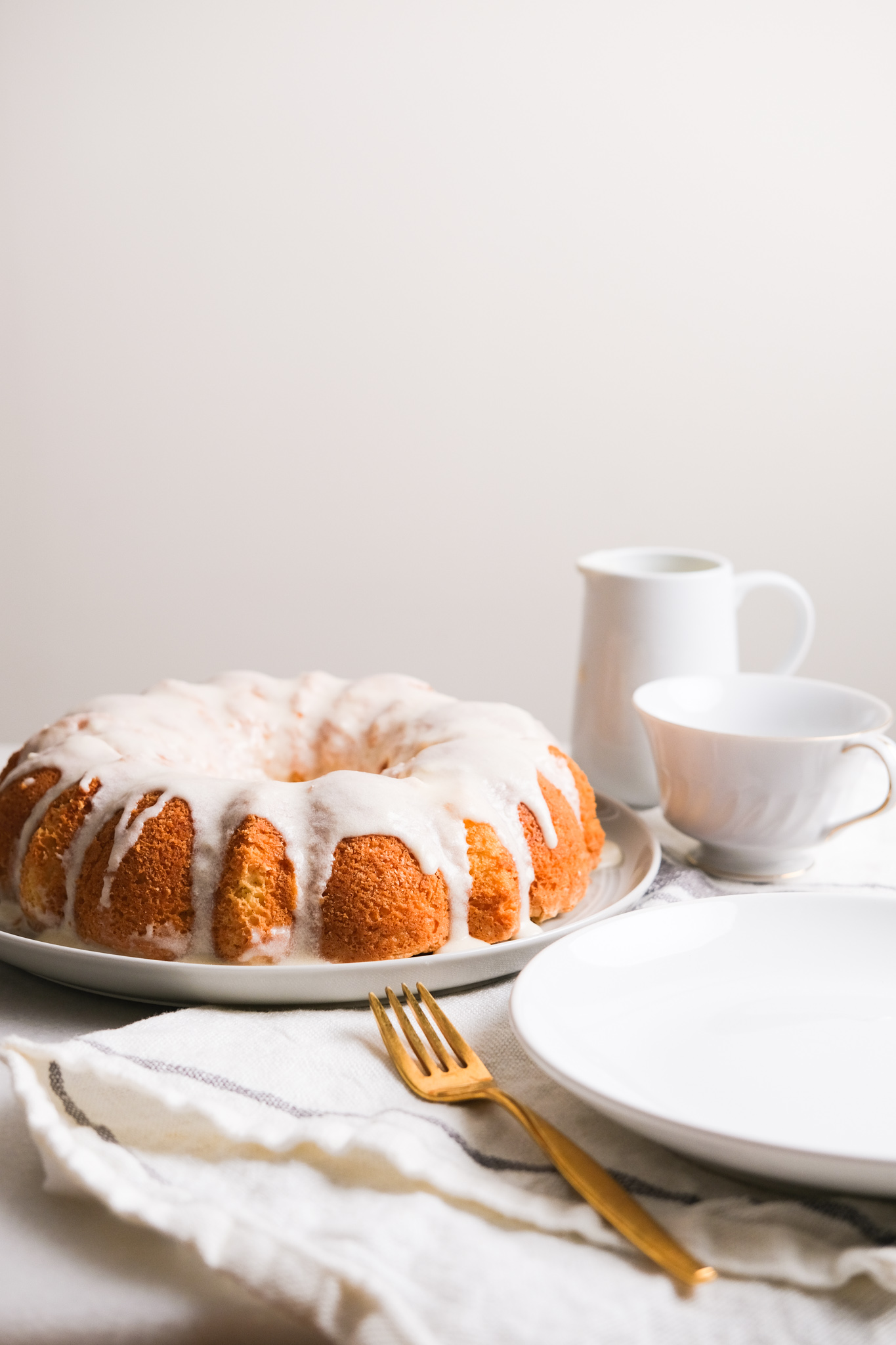 lemon cake with frosting on a table