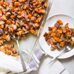 sweet potato bake with chicken sausage